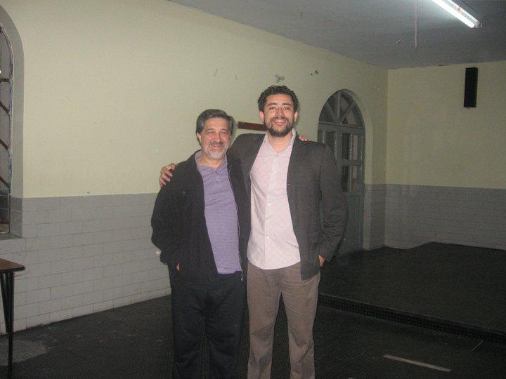 Con mi mentor y maestro Miguel de Zubiria